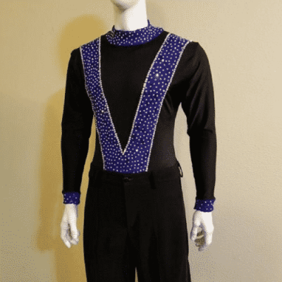Indigo Attraction long sleeve salsa shirt