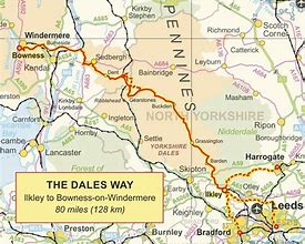 "ANNUAL GENERAL MEETING OF BAILDON WALKERS ARE WELCOME, AND PICTORIAL PRESENTATION FROM COLIN SPEAKMAN ""CELEBRATING 50 YEARS OF THE DALES WAY"" @ Wesleys Hall, Baildon Methodist Church"
