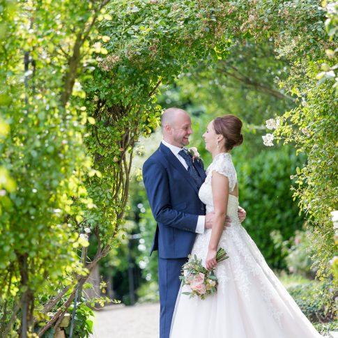 Wood Hall hotel wedding backlit September wedding photograph Leeds