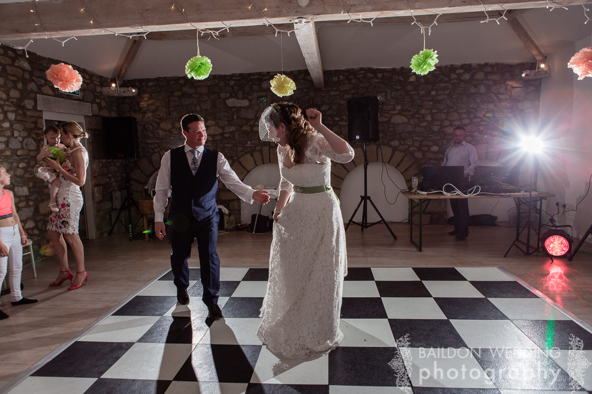 chequered dance floor