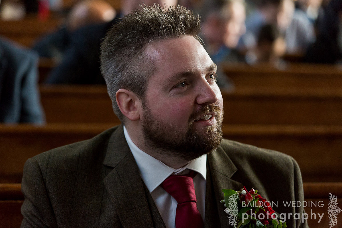 groom waiting at altar United reformed church