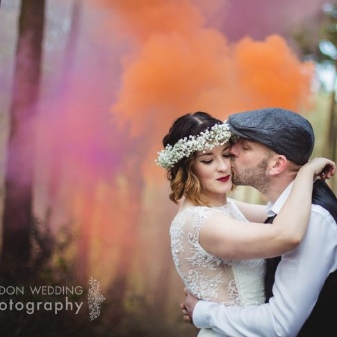 smoke grenade wedding