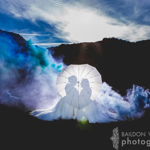 love heart umbrella Yorkshire lesbian wedding Leeds photograph two brides