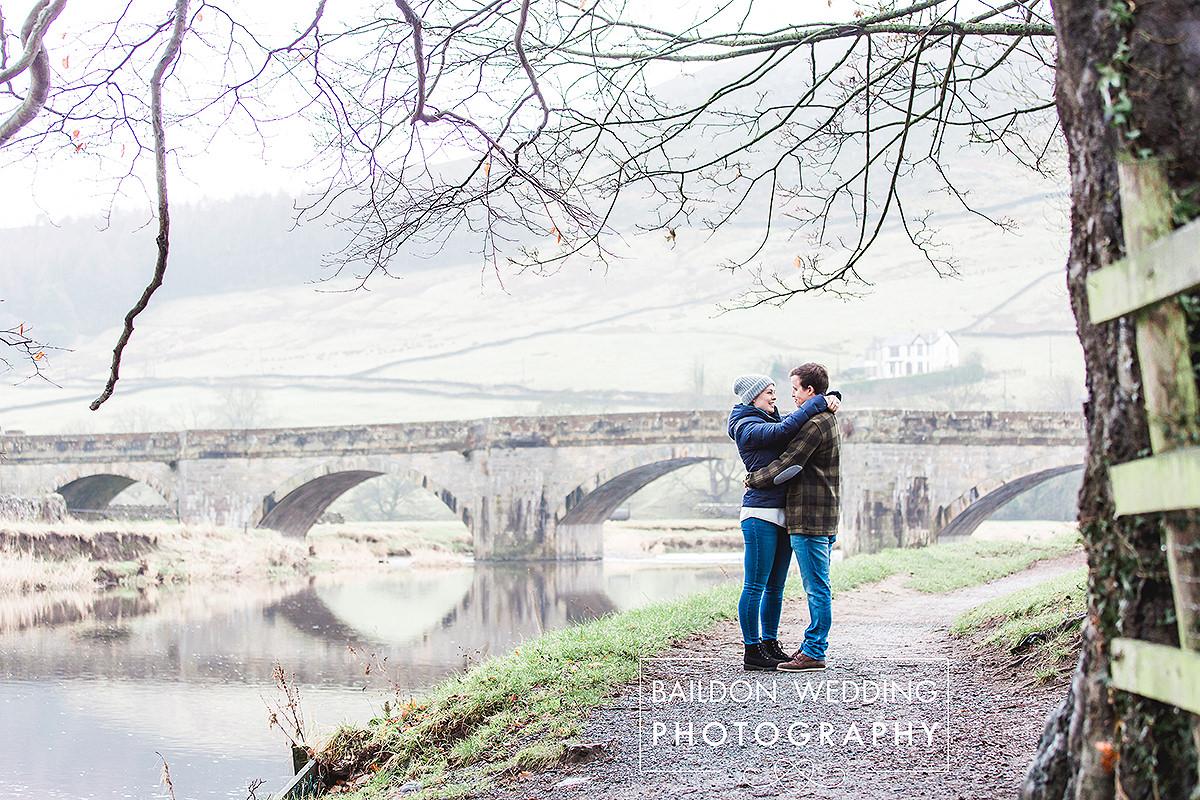Burnsall bridge wedding portrait photographer