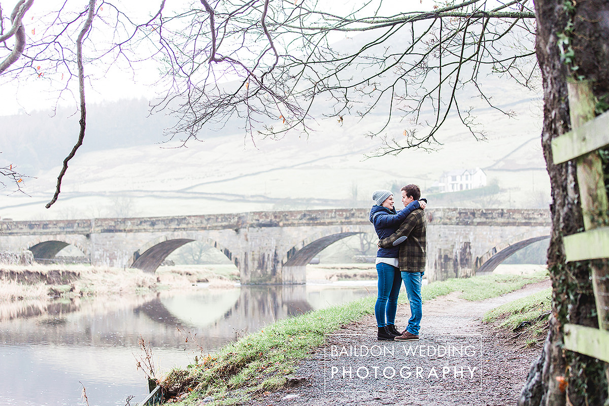 Burnsall bridge wedding portrait photographer