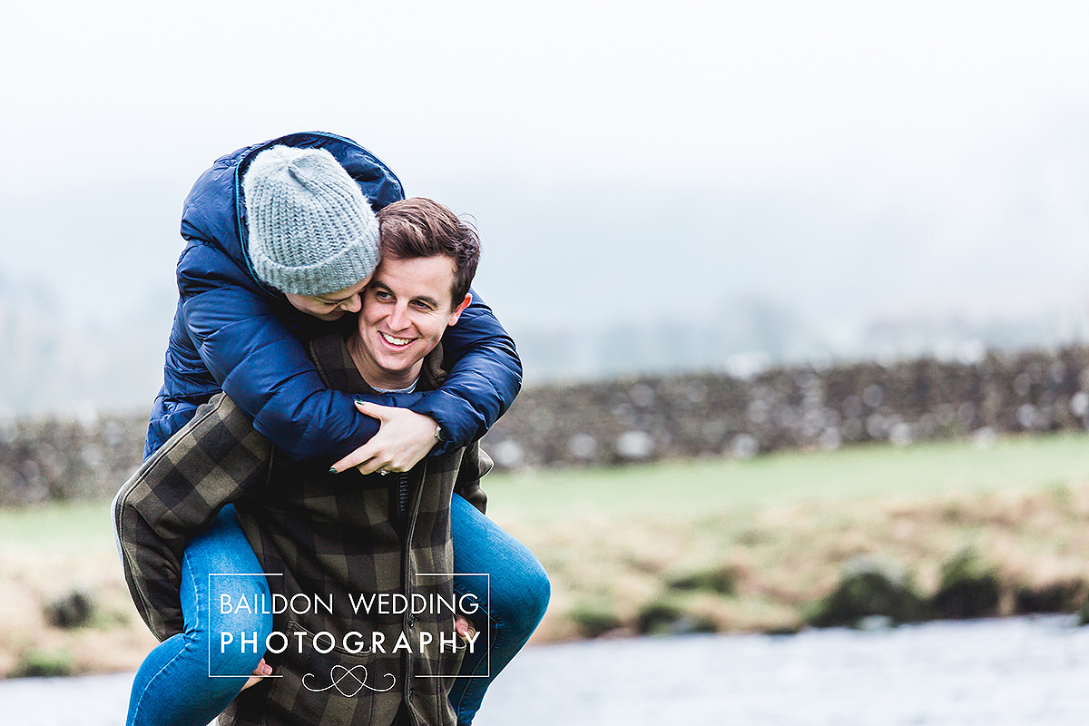 Fun wedding photographer relaxed engagement shoot