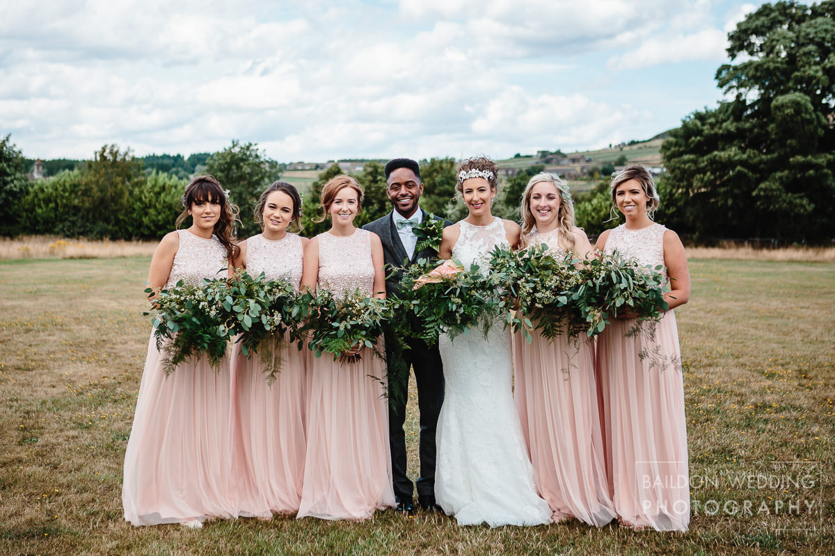 Bridal party group shots