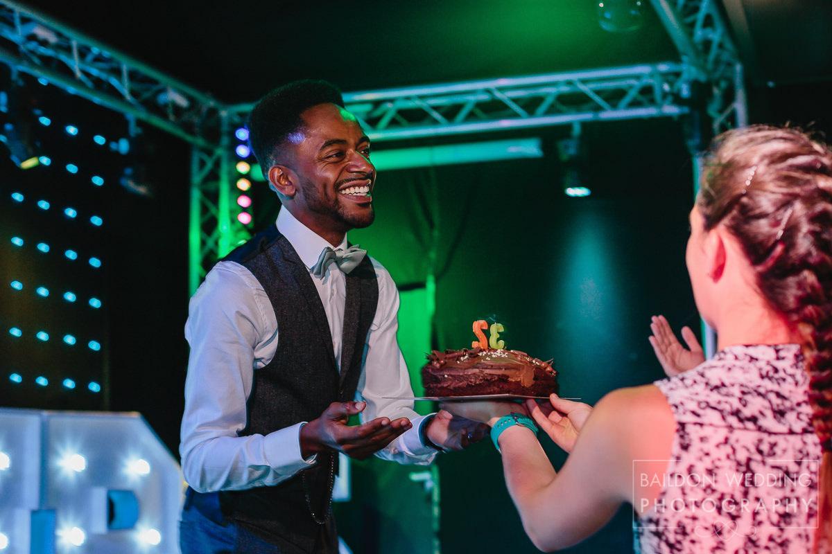 Birthday cake on your wedding day