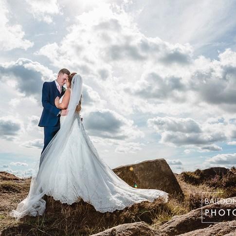 Leeds wedding photographer Yorkshire Otley Chevin bride and groom