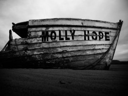 picture of wrecked boat named the molly hope