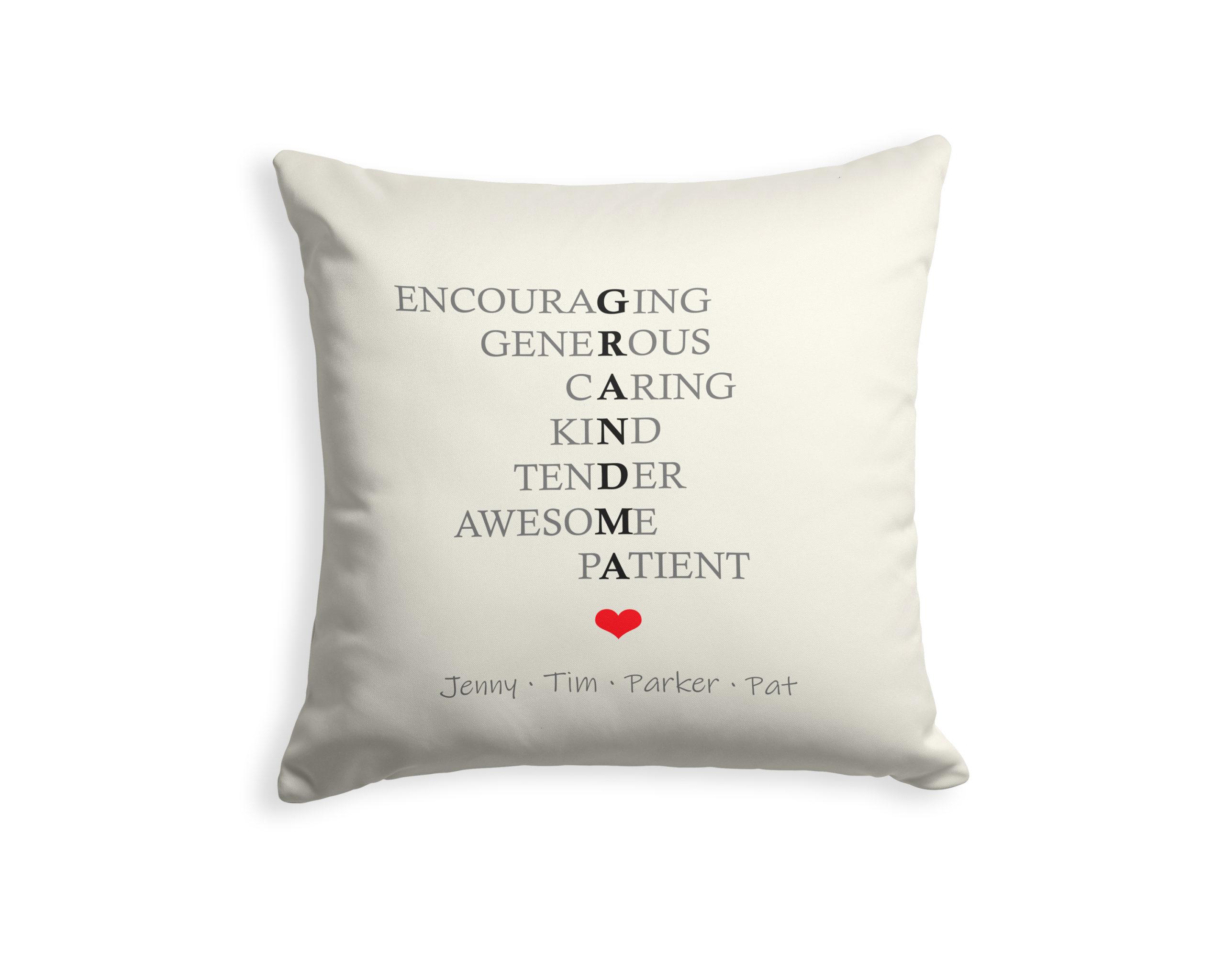 personalized grandma acronym pillow