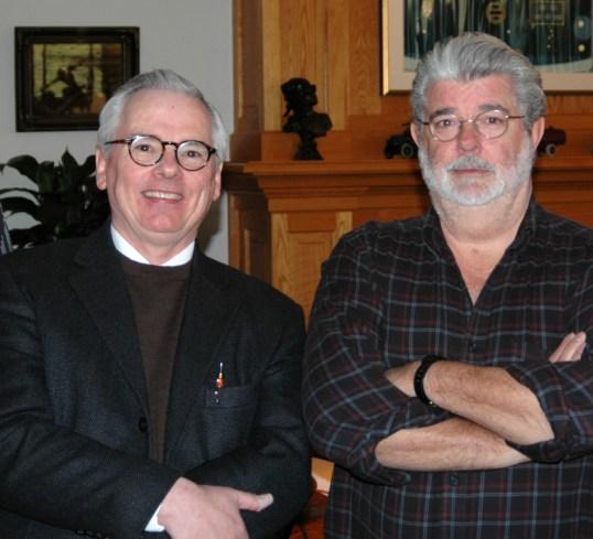Robert and George Lucas at Skywalker Ranch