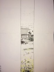Sketch from the top of a hill in Aberystwyth