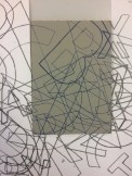 enlarged photocopy of my alphabet composition having been cut out and replaced with mapped lino.