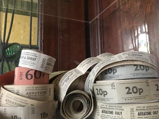 Tickets inside original ticket office