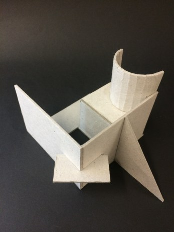 a range of maquette's using grey board, garibaldi biscuits, ceramics, wire and paper