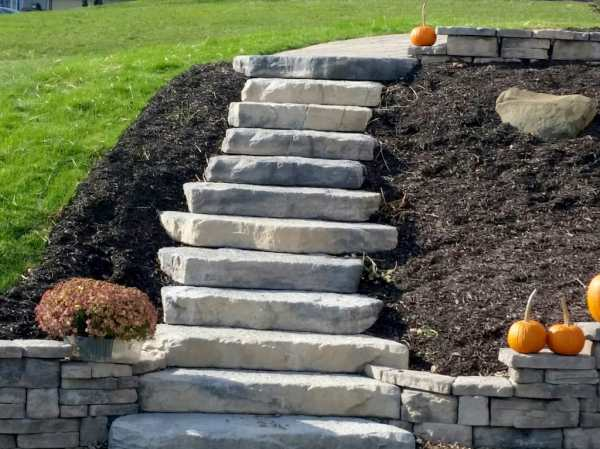 residential hardscape steps - bailey