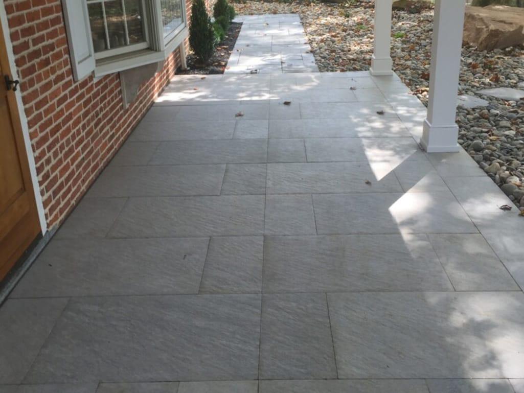 residential hardscape outdoor tile