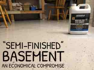 Basement Ideas Semi Finished Option An Economical Compromise Baileylineroad