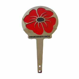 Poppy Remembrance Design Vehicle Lollipop
