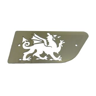 Welsh Dragon Stainless Steel Cab Emblem