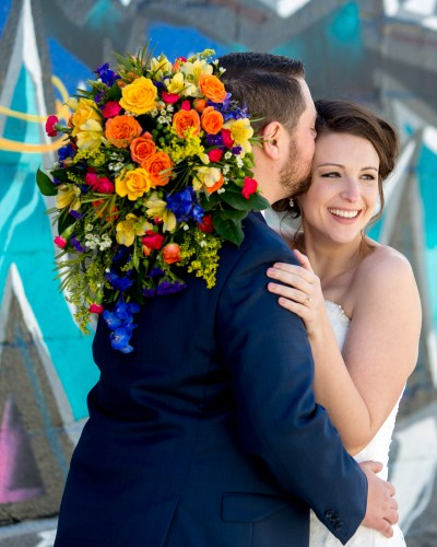 Laura and Tyler | Fountain Square Indianapolis Colorful Wedding Day
