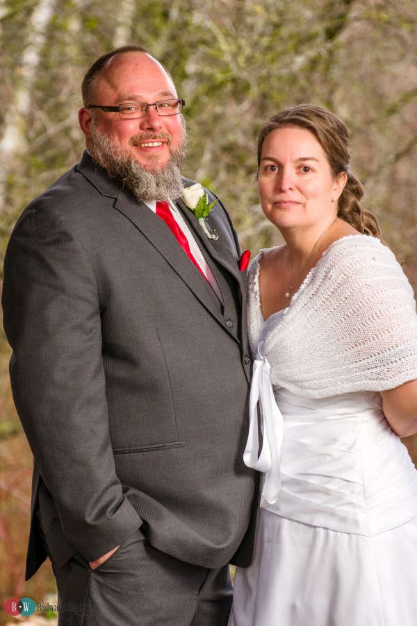 Bride and groom formal photo