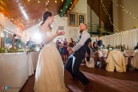 Hilary and Kyle dancing at their wedding reception