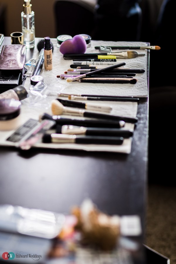 The makeup artists have a *lot* of gear!