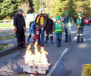 CERT fire training