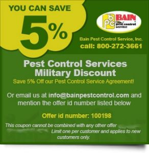 pest control coupons special