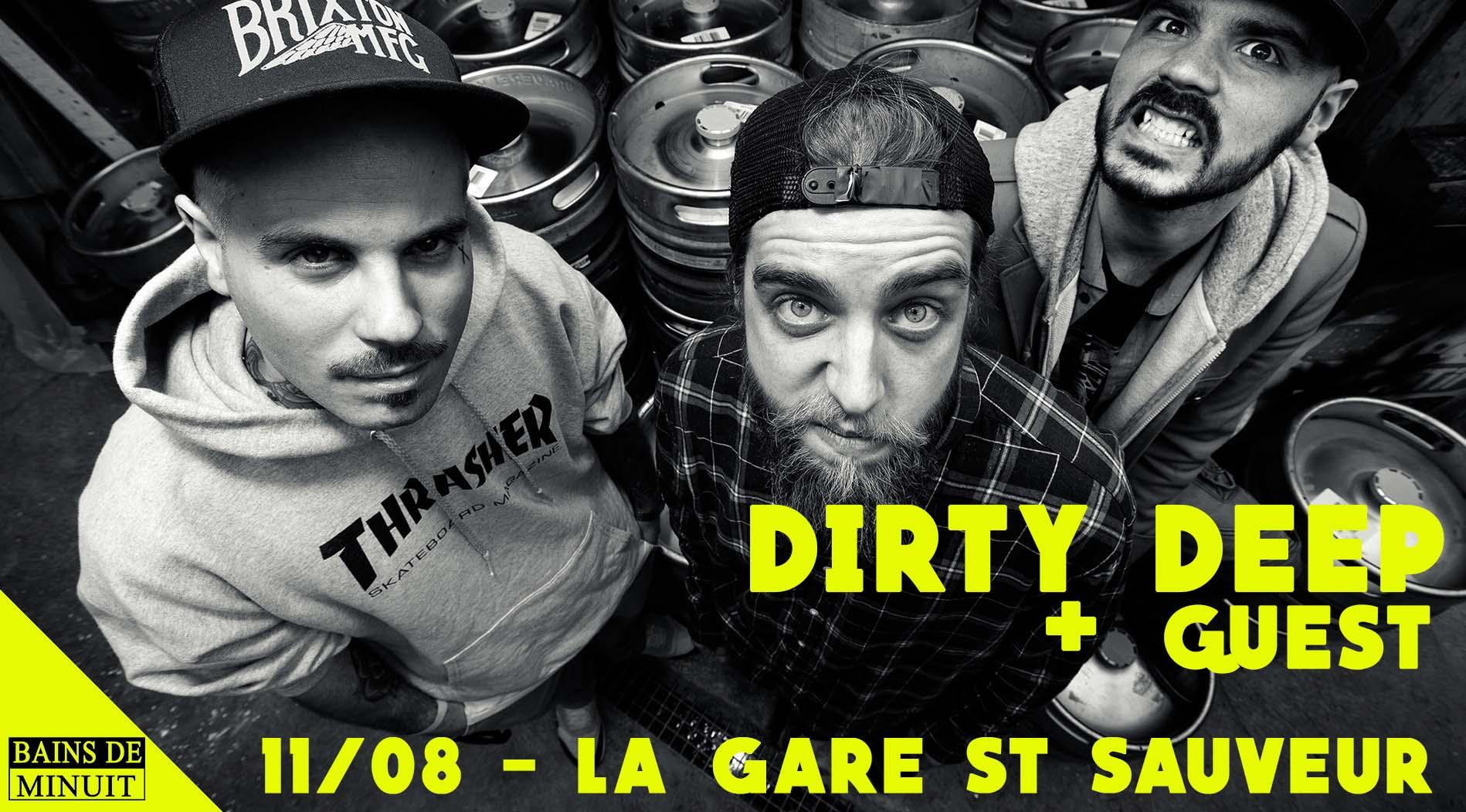 11/08 – DIRTY DEEP (fr) + Wild Raccoon (lille) / Gare Saint Sauveur, Lille (Gratuit)