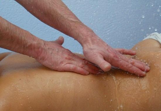 massage sous eau