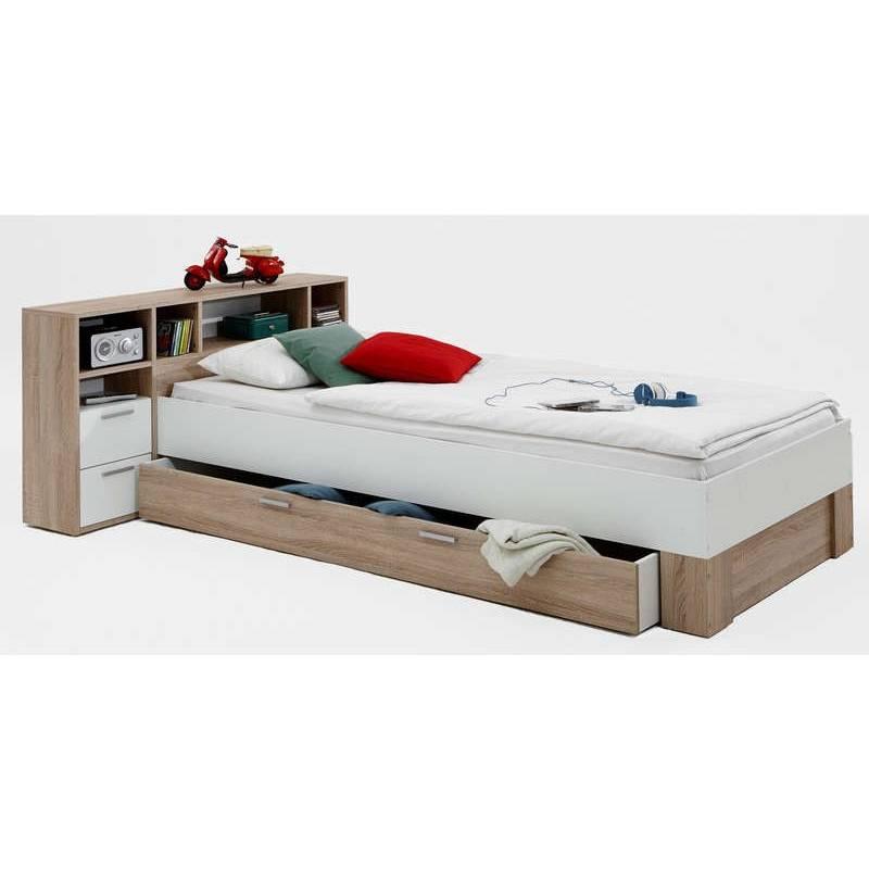 lit avec tiroirs et rangements