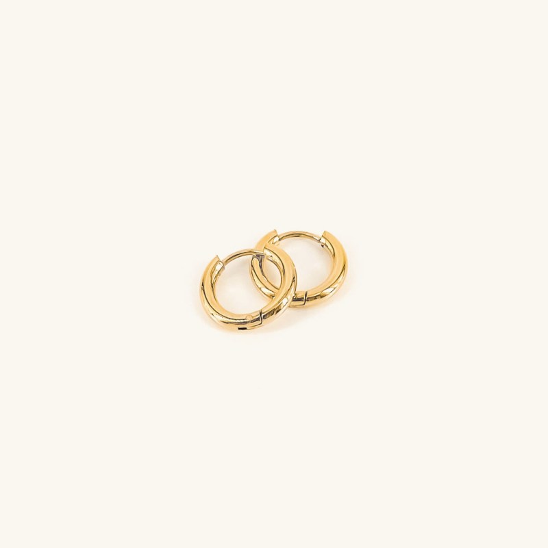 Gold plated basic Sammie hoops earrings jewelry