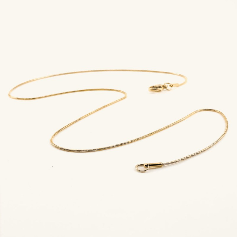 Gold plated snake chain necklace waterproof jewelry