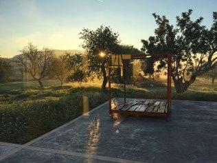 Sonnenaufgang auf der Terrasse