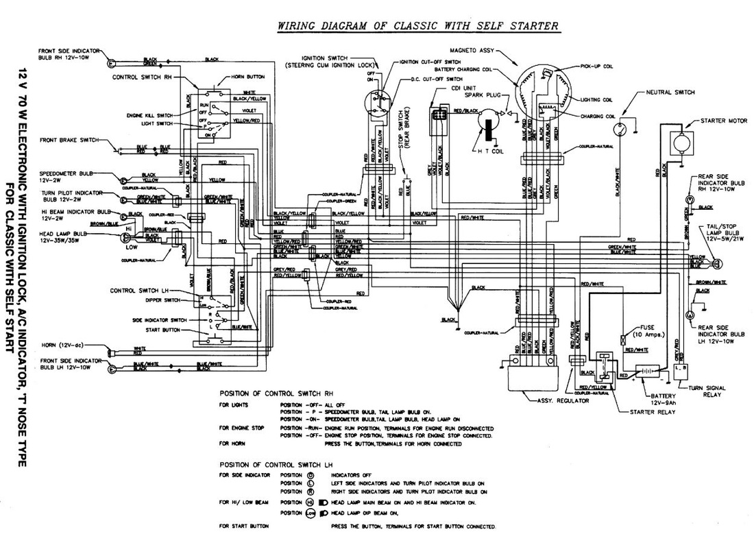 bajaj chetak classic electrical systems [ 1100 x 779 Pixel ]