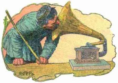 A Peasant with Gramophone
