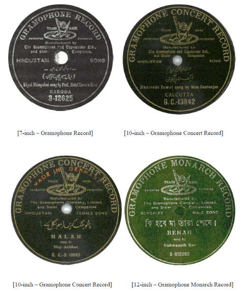 Gramophone Record, Gramophone Concert Record, Gramophone Monarch Record