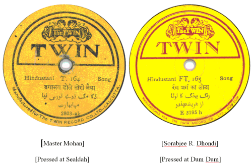 The Twin Record Co. Ltd. Calcutta, The Twin Record Co. Dum Dum