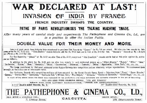 """An Advertisement from """"The Statesman"""", 12th April, 1908"""