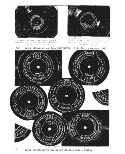 Label Illustrations, PradhakarData, Bombay, Kabikantha, S.K. De, Calcutta, 1965