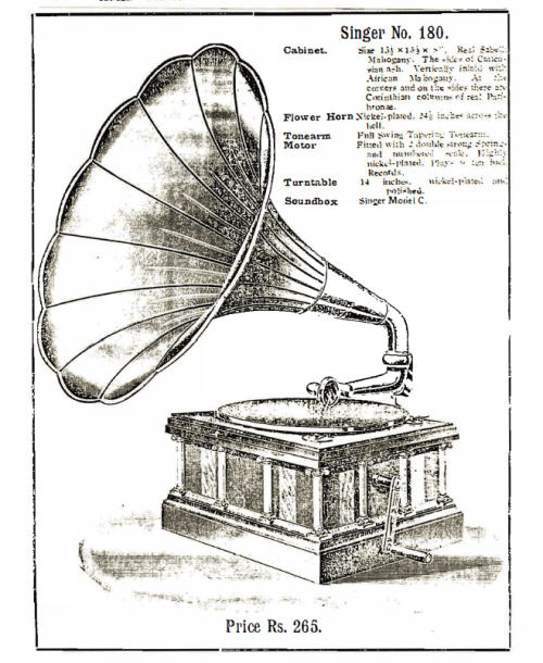Singer Talking Machine, Singer No. 180
