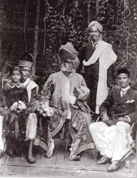 Rahimat Khan with Vishnupant Chhatre and his brother Vinayakra Chhatre