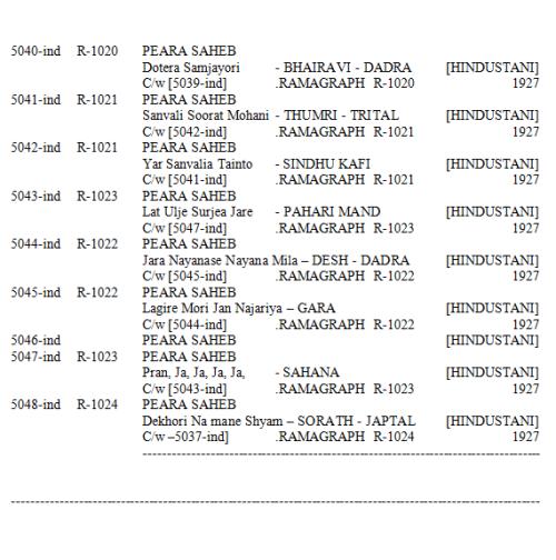Peara Saheb Discography, Page 31