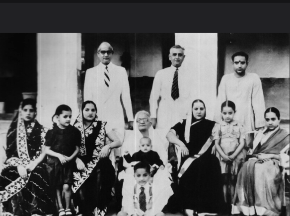 K.L. Saigal with his Family 1940's
