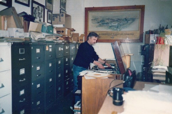 Michael Kinnear, EMI Music Archive, Hayes, Middlesex