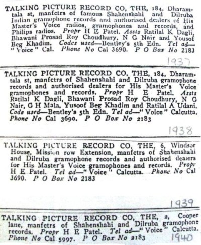 The Talking Picture Record Co.,