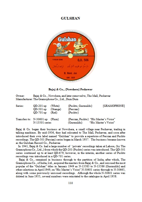The 78 rpm Record Labels of India, Page 110